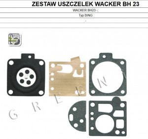 Zestaw membran BING do WACKER BH23